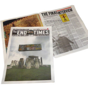 jimmy cauty adp end times newspaper