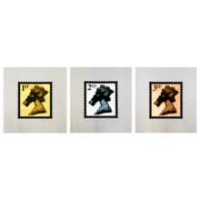Jimmy Cauty Stamps of Mass Destruction Gold Leafi
