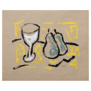 Harry_Adams_pears_with_glass_monoprint