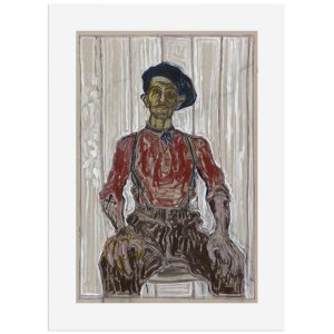 BillyChildish-self_portrait_in_berret_and_blue_scarf-fw,