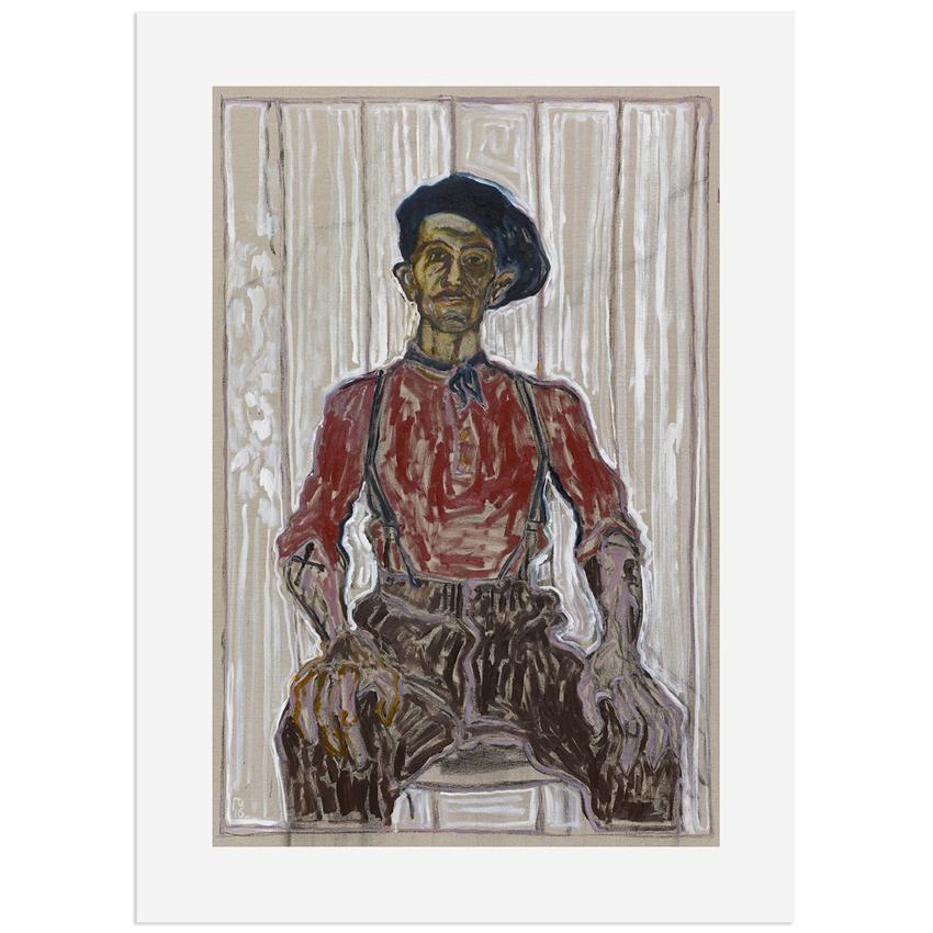 BillyChildish-self_portrait_in_berret_and_blue_scarf-fw,