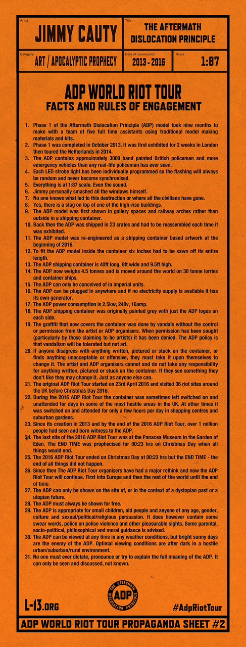 Jimmy Cauty ADP World Tour propaganda sheet two