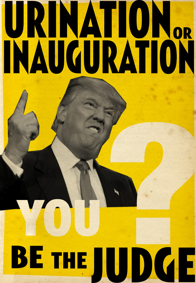 Billy Childish Trump Urination Day