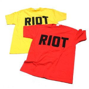 Jimmy Cauty Riot T shirts Yellow Red-fw