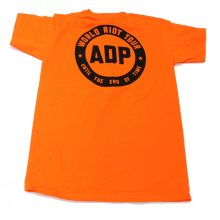 Jimmy Cauty ADP World Riot Tour adult riot orange back 72dpi