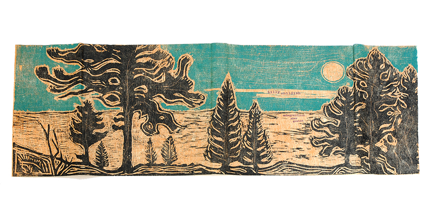 Billy Childish woodcut cover full spread