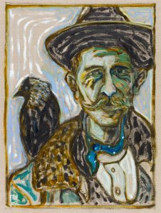 BillyChildish-painting-Man-With-Jackdaw-46x61-WEB-3479