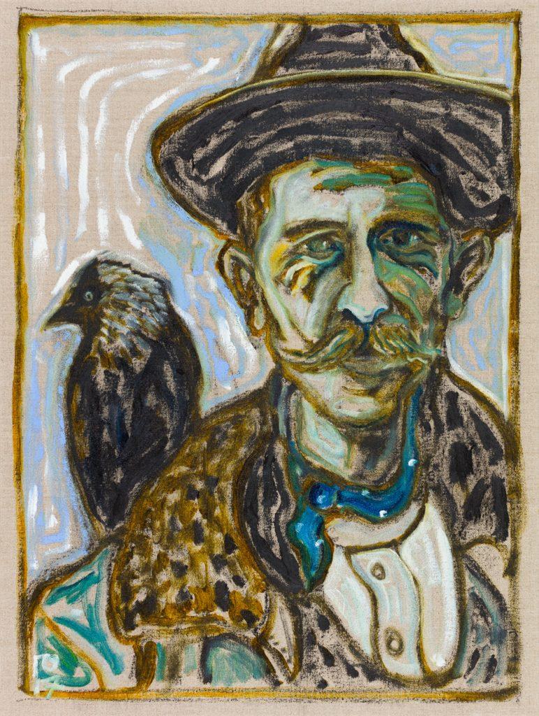 BillyChildish-painting-Man-With-Jackdaw-46x61-WEB-3479