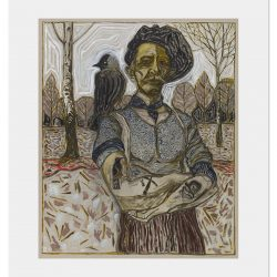 22BillyChildish-painting-man with jackdaw