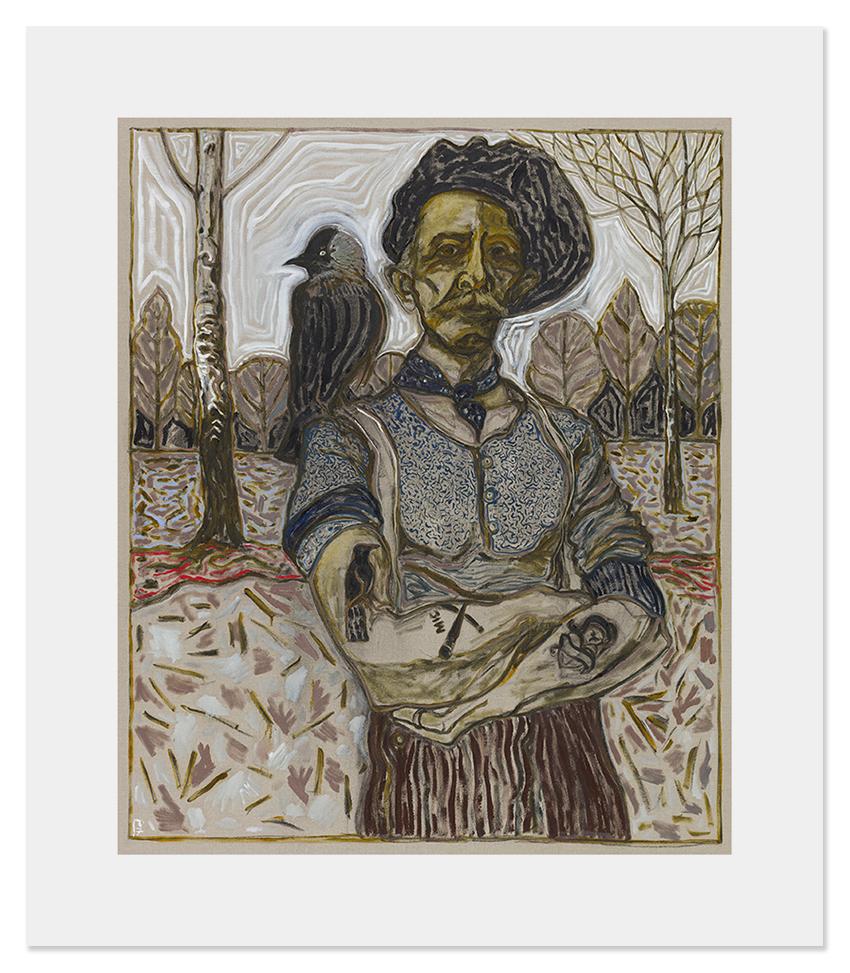 22BillyChildish-painting-man with jackdaw