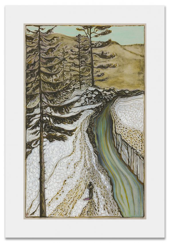 4BillyChildish-painting-man by icy river