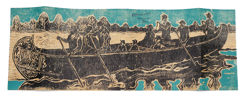 Billy Childish hudson bay furpackers woodcut flat