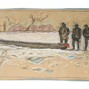 Billy Childish Frozen Estuary drawing
