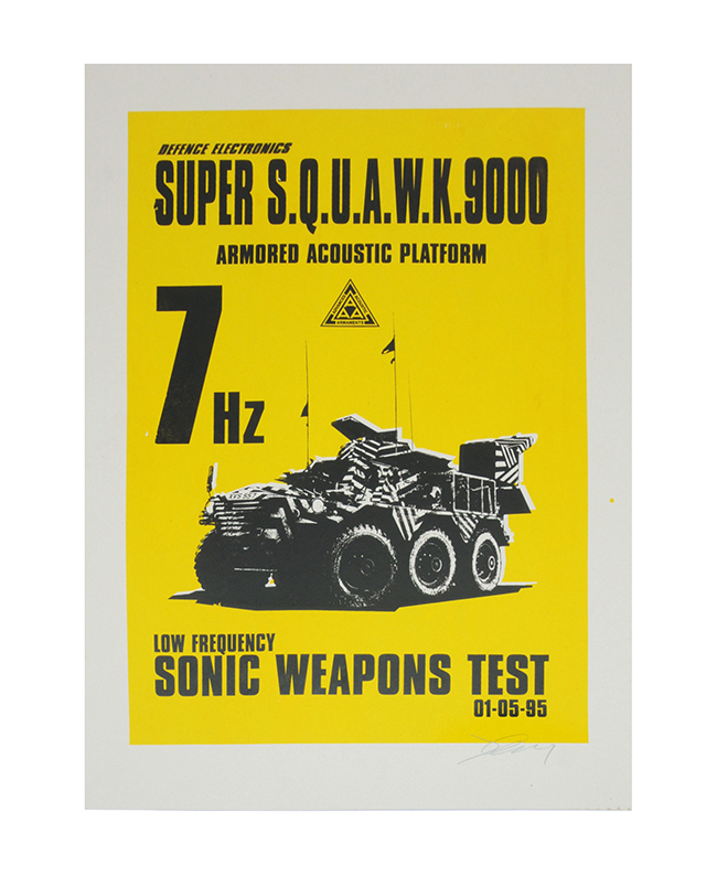 Jimmy Cauty Super Squawk 9000 screenprint