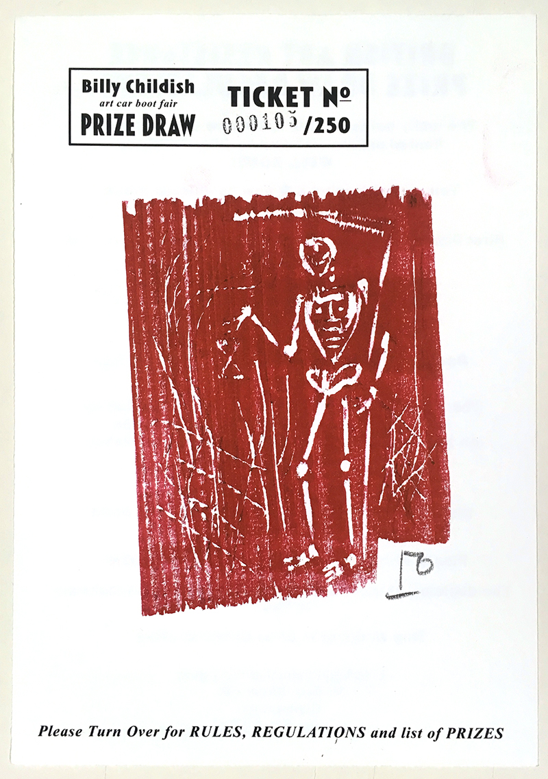 Billy Childish Grim Reaper woodcut prize draw