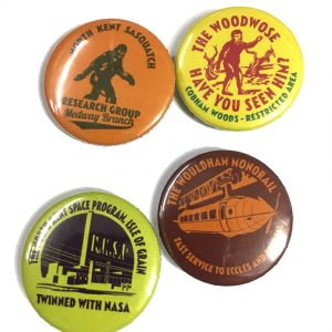 Billy Childish North Kent badges full set