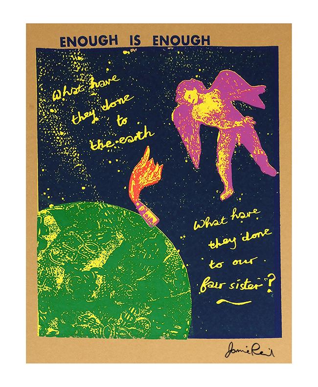 Jamie Reid Enough is Enough Extinction Rebellion Night