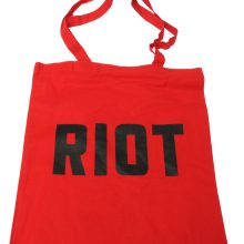 Jimmy Cauty ADP RIOT tote red