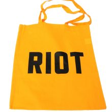 Jimmy Cauty ADP RIOT tote yellow