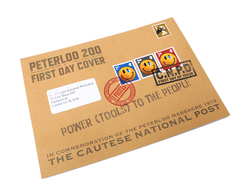 Jimmy Cauty Peterloo First Day Cover