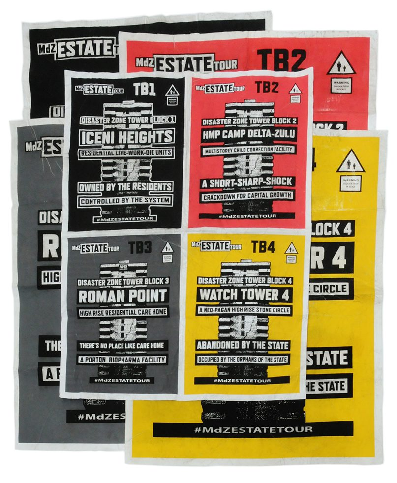 All four towers large posters