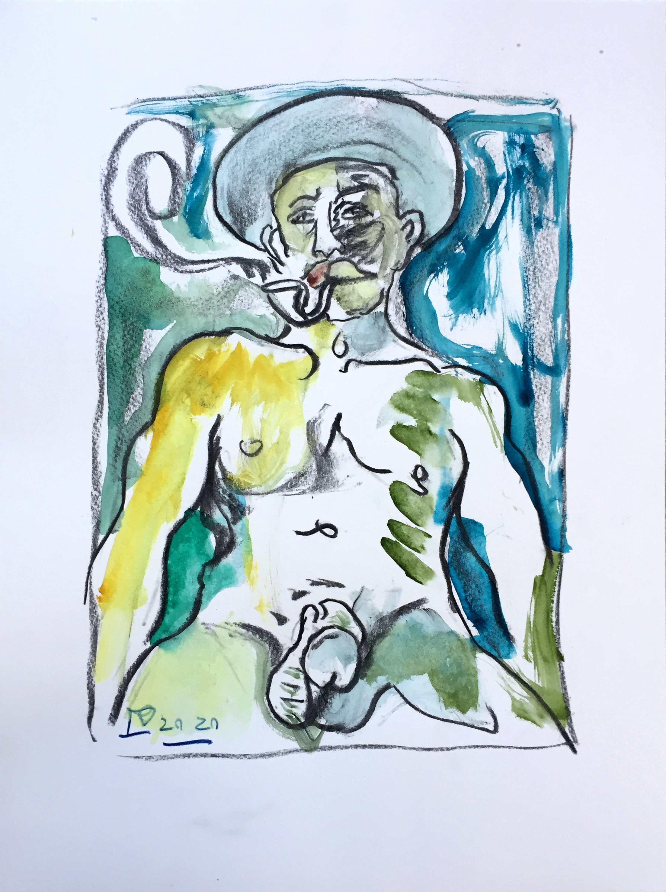Billy_Childish_Frontispiece_Watercolour1